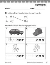 Kindergarten Foundational Phonics Skills: Sight Words