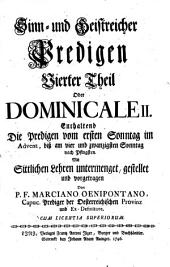Alte Leyer Auf Ein Neues angestimmet: Dominicale II : enthaltend die Predigen vom ersten Sonntag im Advent, biß am vierundzwanzigsten Sonntag nach Pfingsten. 4