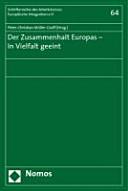 Der Zusammenhalt Europas   in Vielfalt geeint PDF