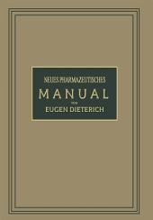 Neues Pharmazeutisches Manual: Ausgabe 8