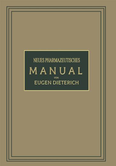 Neues Pharmazeutisches Manual PDF