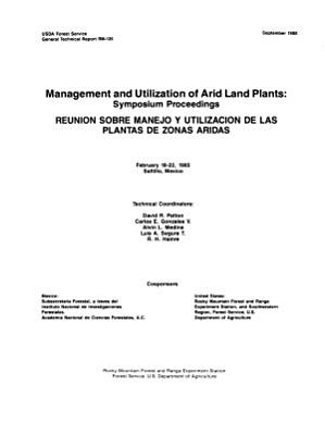 Management and Utilization of Arid Land Plants