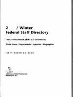 Federal Staff Directory 2009 Winter PDF