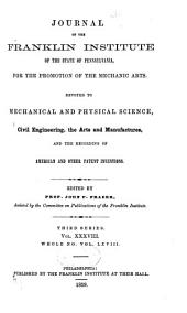 Journal of the Franklin Institute: Volume 38; Volume 68