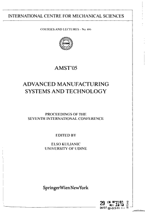 Advanced Manufacturing Systems and Technology PDF
