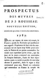Prospectus des Oeuvres de J. J. Rousseau (par Brizard)
