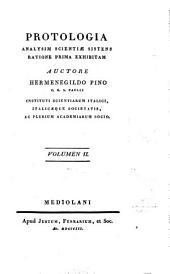 Protologia: analysim scientiae sistens ratione prima exhibitam, Volume 2
