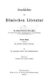 Geschichte der römischen literatur. Supplement: Bände 1-2