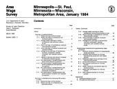 Area wage survey: Minneapolis-St. Paul, Minnesota-Wisconsin, metropolitan area