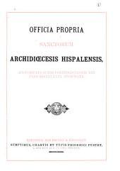 Officia propria Sanctorum archidiœcesis Hispalensis