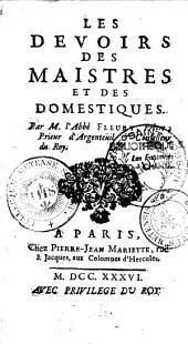 Les devoirs des maîtres et des domestiques