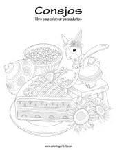 Conejos libro para colorear para adultos 1