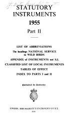 Statutory Instruments