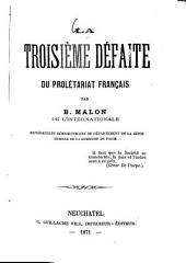 La troisième défaite du prolétariat français
