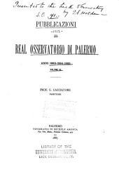 Pubblicazioni del R. Osservatorio di Palermo: Volume 3