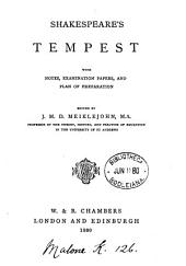 Shakespeare's Tempest: With Notes, Examination Papers, and Plan of Preparation
