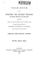 Scientific and Learned Societies of Great Britain PDF