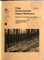 Modoc National Forest  N F    Blue Fire Forest Project PDF