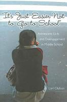 It s Just Easier Not to Go to School  PDF