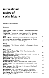 International review of social history PDF