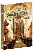 St  Joseph Annual Missal  American