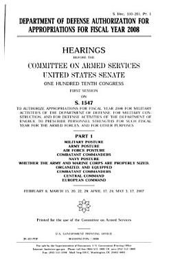 Department of Defense Authorization for Appropriations for Fiscal Year 2011  Military posture and PDF