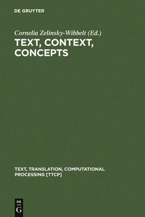 Text, Context, Concepts
