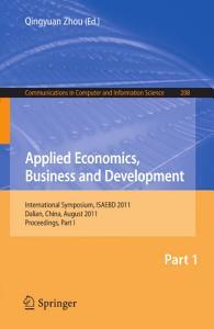 Applied Economics  Business and Development Book