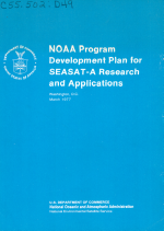 NOAA Program Development Plan for SEASAT-A Research and Applications