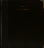 A Pocket Memorandum Book During a Ten Weeks' Trip to Italy and Germany in 1847
