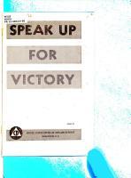 Speak Up for Victory PDF