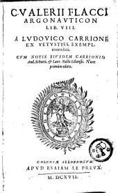 Argonauticon Lib. VIII. A Ludovico Carrione emendatii