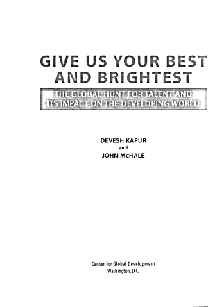 Give Us Your Best and Brightest