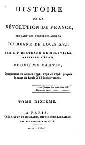 Histoire de la revolution de France, pendant les dernieres annees du regne de Louis XVI (etc.)