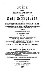 A guide to the reading and study of the Holy Scriptures: with an illustrative supplement