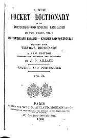 Novo diccionario portatil das linguas portugueza e ingleza em duas partes: Portugueza e ingleza -- Ingleza e portugueza, Volume 2