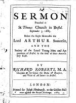 A Sermon [on 1 Pet. ii. 17] preached at St. Thomas Church in Bristol ... before ... the Society of the Loyal Young Men and Apprentices of Bristol, etc