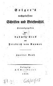 Nachgelassene Schriften und Briefwechsel: Band 2