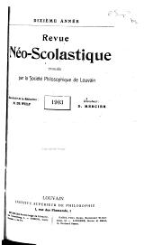 Revue néoscolastique