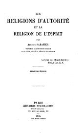 Les religions d'autorité et la religion de l'esprit