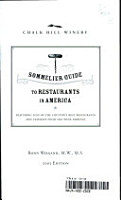 2005 Chalk Hill Winery Sommelier Guide to Restaurants in America PDF