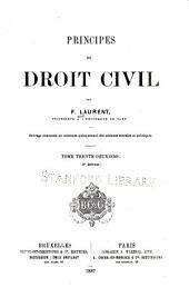 Principes de droit civil: Volume32