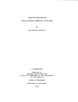 Cognitive Processes and Braille Reading Strategies in the Blind PDF