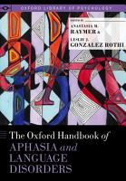 The Oxford Handbook of Aphasia and Language Disorders PDF
