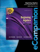 eCompanion for Aufmann/Lockwood's Beginning Algebra, 1st
