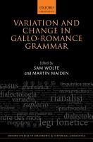 Variation and Change in Gallo Romance Grammar PDF