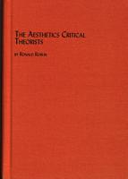 The Aesthetics of the Critical Theorists PDF