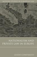 Nationalism and Private Law in Europe PDF