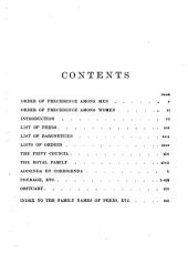 The Windsor Peerage for 1890-1894: Volume 4