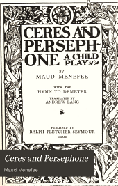 Ceres and Persephone: a child play